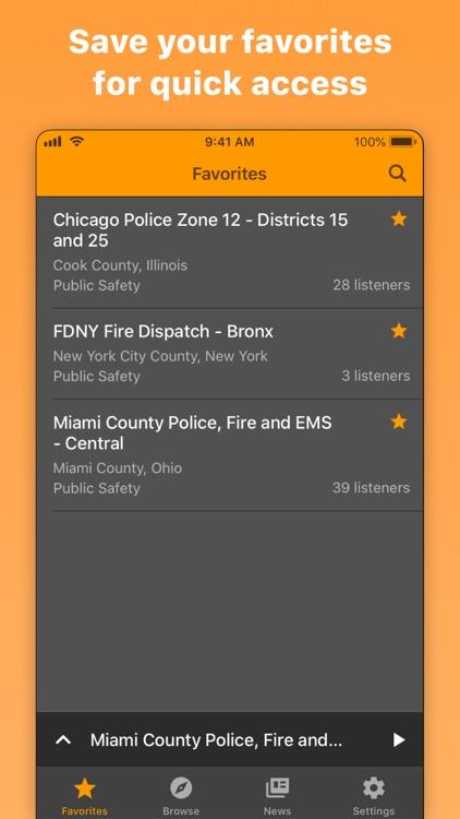 Police Scanner Radio & Fire screenshot-4