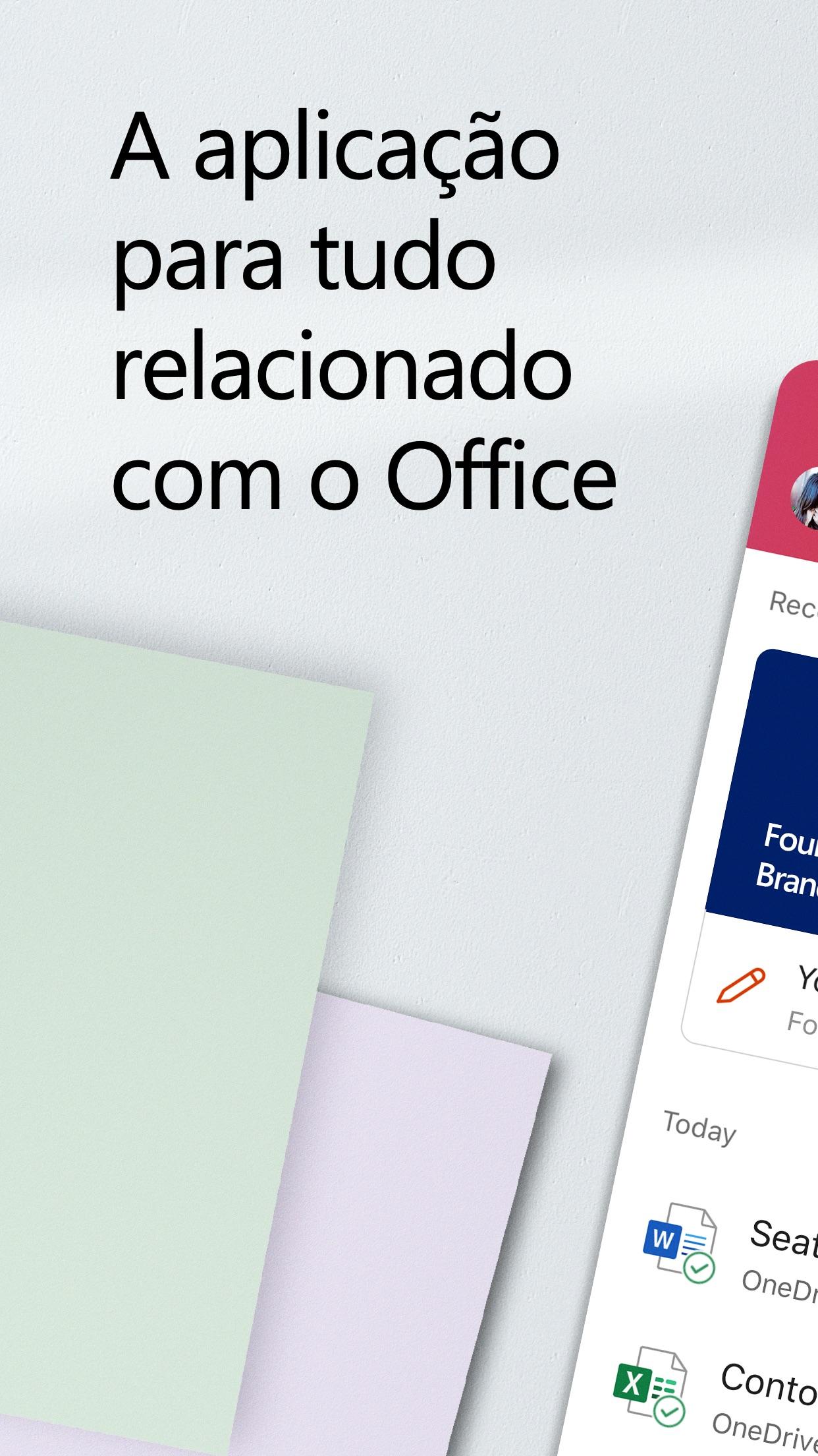 Screenshot do app Microsoft Office