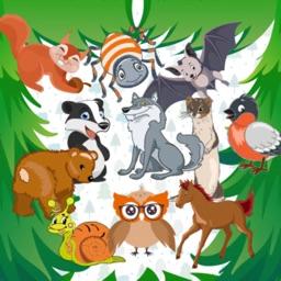 KidsDi: Forest animals puzzle