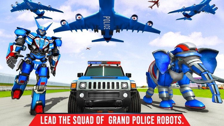Elephant Robot Transport Game screenshot-4