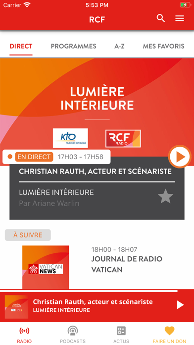 messages.download RCF - Info, Podcast, Culture software