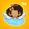 小さな天使のステッカー