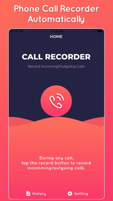 Screenshot for Automatic call recorder ● in Pakistan App Store