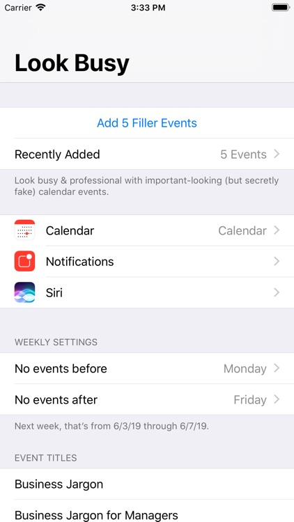 #LookBusy Fake Calendar Events screenshot-8