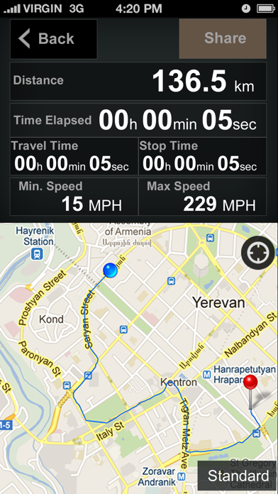 Speedometer GPS+ (Car speedometer, Bike cyclometer) Screenshot 7