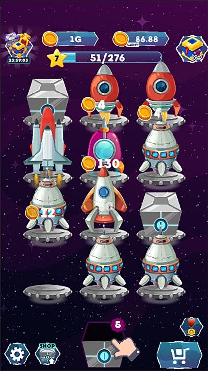 Merge Spaceships Galaxy Game screenshot-3