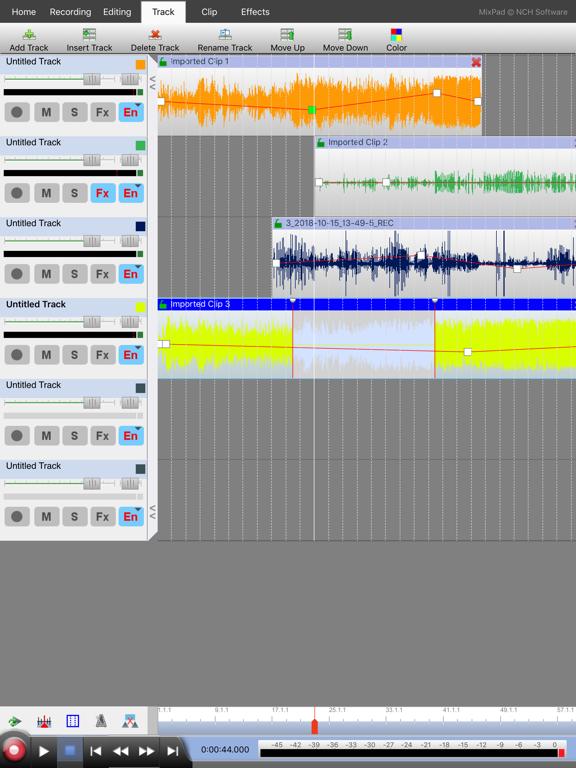 MixPad Master's Edition Screenshots