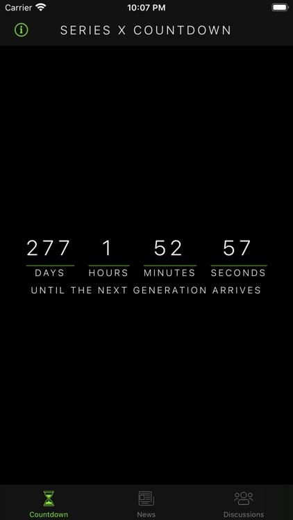 Countdown for Xbox Series X
