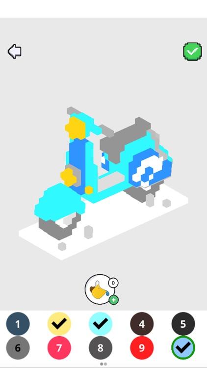 Voxel Art 3D: Color by Number