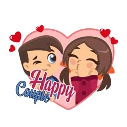 Happy Couple Valentine Sticker