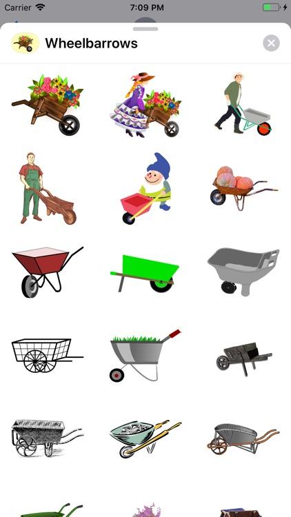 Wheelbarrow Stickers