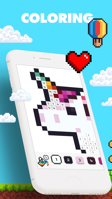 UNICORN - Color by Number Game Screenshot