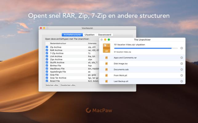 The Unarchiver in de Mac App Store