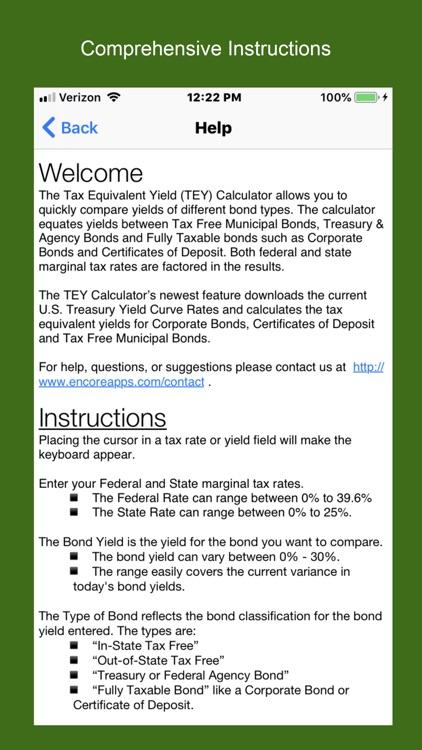 Tax Equivalent Yield Calc screenshot-6