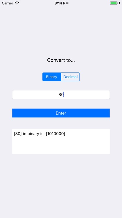Converter - Binary and Decimal