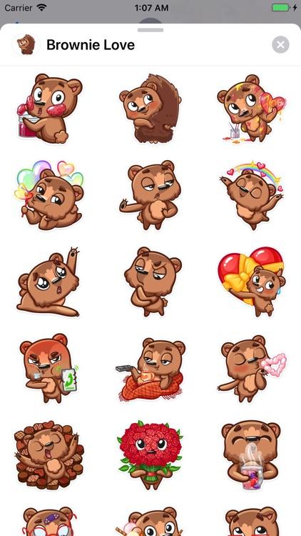 Brownie Love Stickers screenshot-3