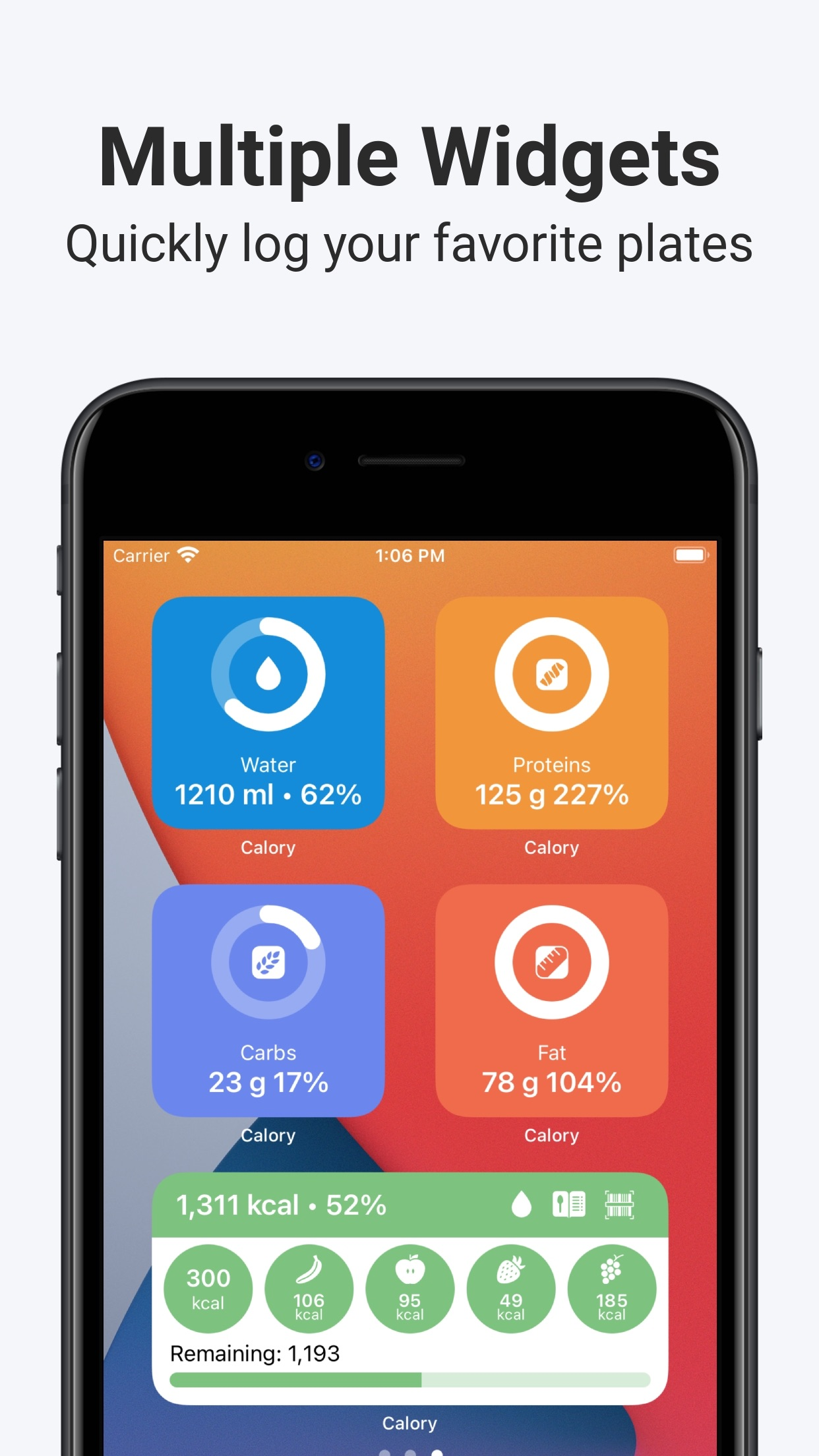 Screenshot do app Calory: Simple Calorie Counter