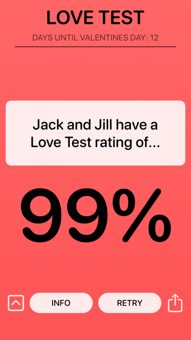 Love Test Compatibility Rating screenshot one