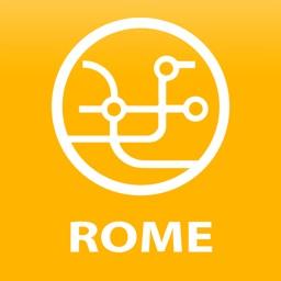 Public transport map Rome