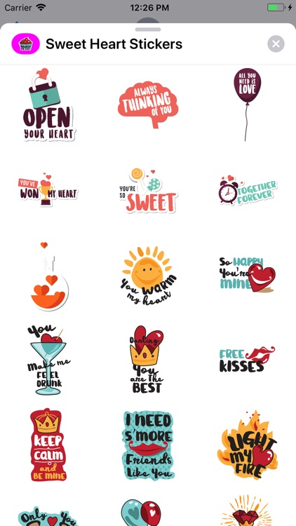 Sweet Heart Stickers Pack screenshot-5