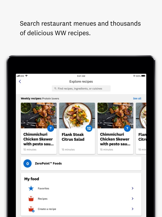 ww weight watchers on the app store