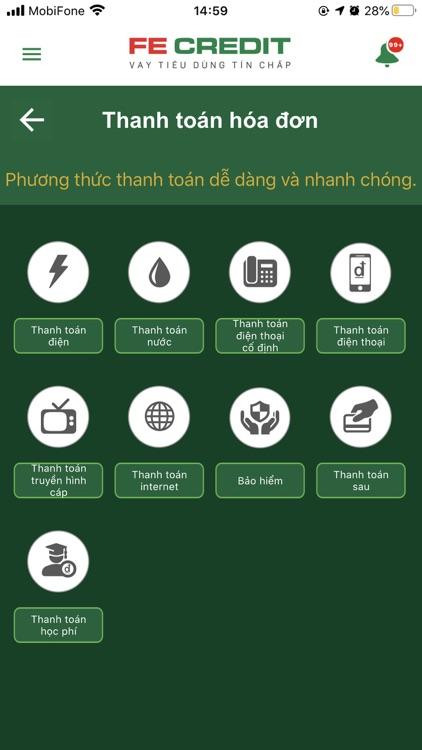 FE CREDIT Mobile screenshot-4