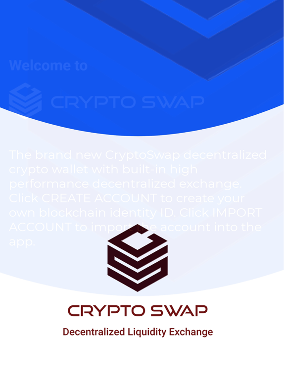 Crypto Swap Liquidity Exchange screenshot #1
