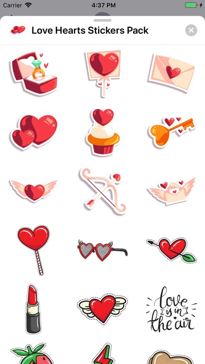 Love Hearts - Stickers Pack