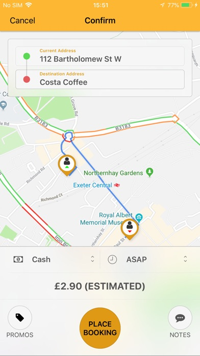 Apple Central Taxis Exeter screenshot four