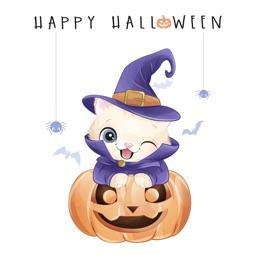 Watercolor Halloween Stickers-