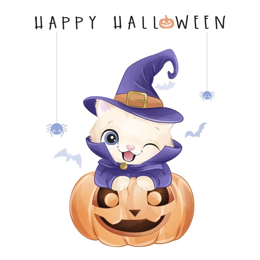 Watercolor Halloween Stickers-
