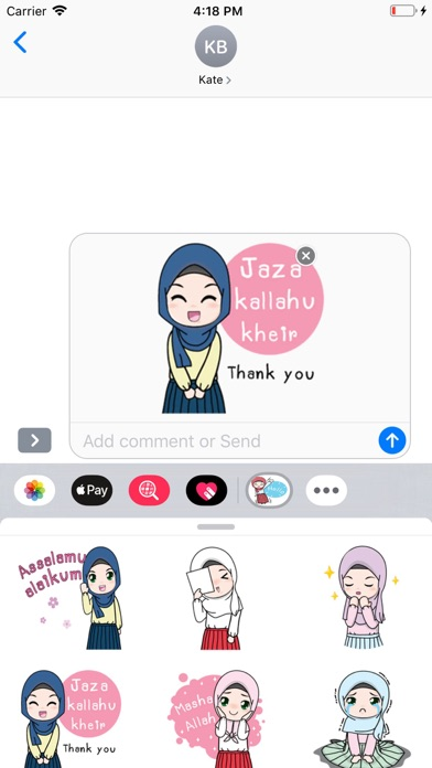 Screenshot for Cute Hijab Stickers Pack in United States App Store