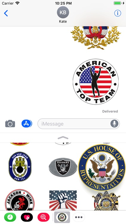 Symbols USA Stickers