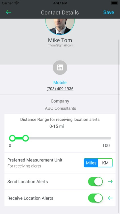 In Range Contacts