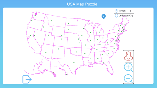 USA Map Puzzle Game on the App Store