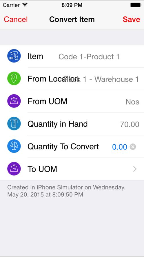 Inventory Stock Sale Warehouse App 截图