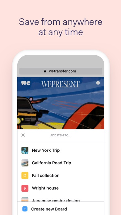 download Collect by WeTransfer apps 3