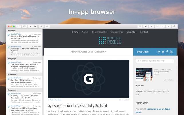 ReadKit: Read Later and RSS on the Mac App Store