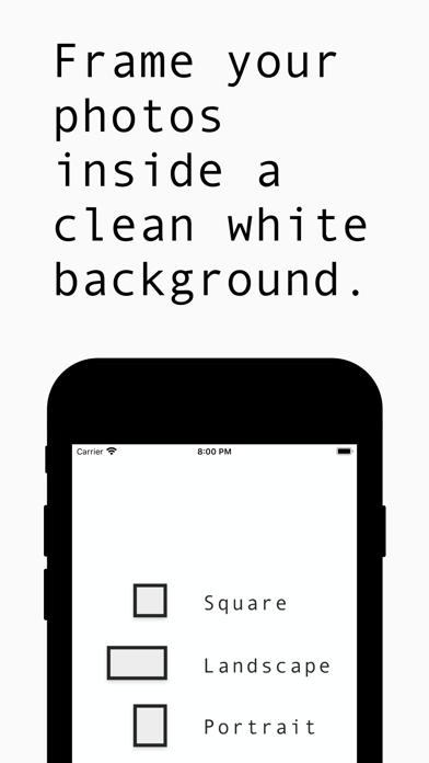 White Background Frame screenshot 1