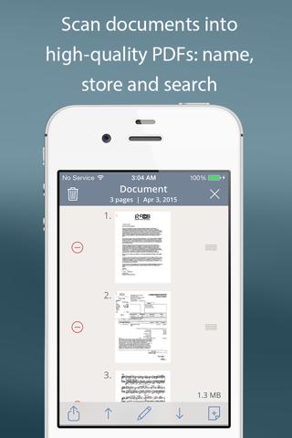 Screenshot of TurboScan™: document scanner
