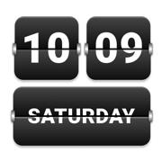 时钟小部件-翻页时钟、极简风电子数字、日历