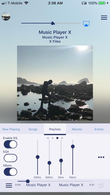 Music Player X - MP3 EQ Bass screenshot-4