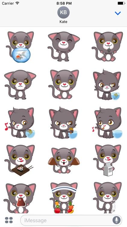 Cute Cat Stickers & Emoji