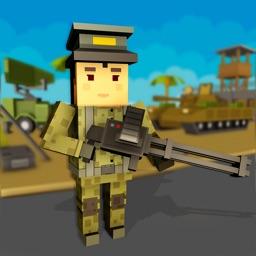 Blocky Army Modern War Strike