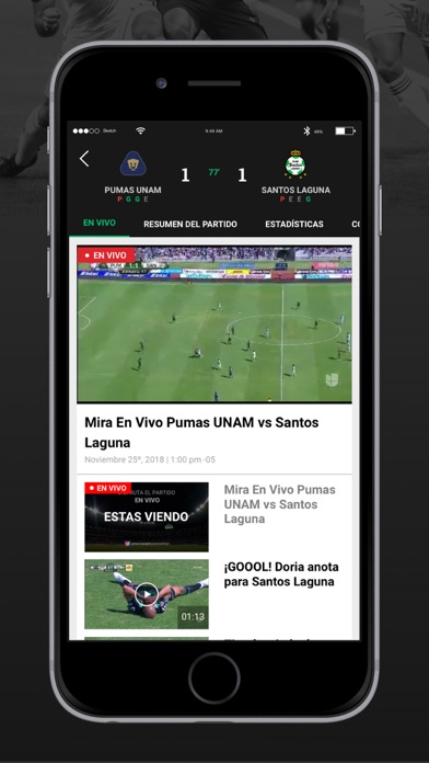 Univision Deportes review screenshots
