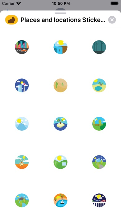 Screenshot for Places and locations Stickers in South Africa App Store