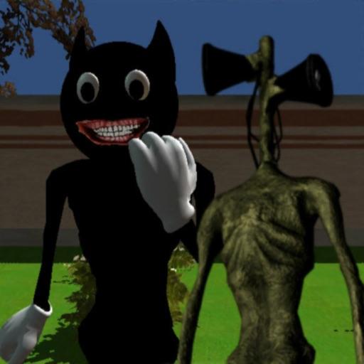 Among Cartoon Cat Impostor Up