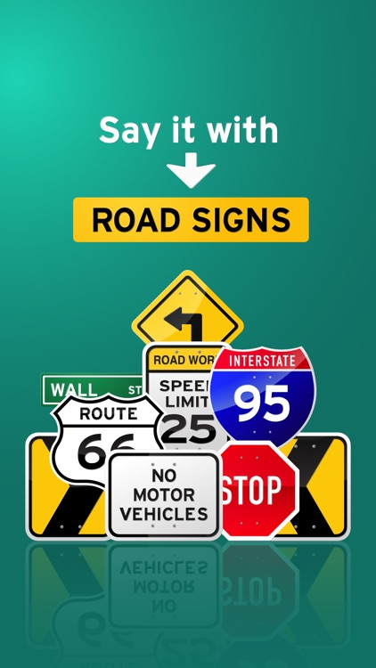 100+ Glossy Road Signs
