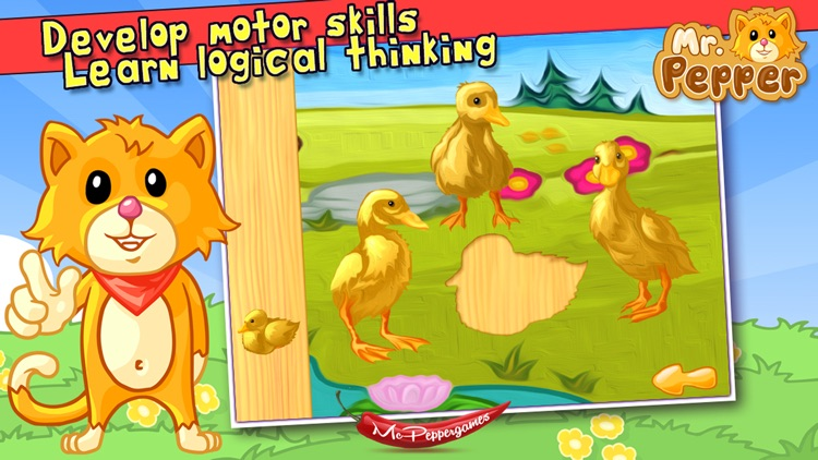 Baby Animals Puzzle - For Kids screenshot-3