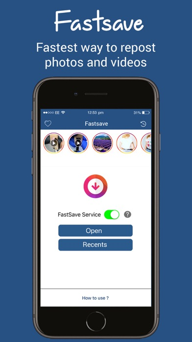 Screenshot for Fastsave - Repost photo videos in Lebanon App Store